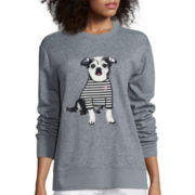 I 'Heart' Ronson® Long-Sleeve Embellished Sweatshirt