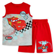 Disney Collection Cars Sleeveless Shirt and Shorts Set - Boys 2-10