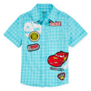 Disney Collection Cars Short-Sleeve Woven Shirt - Boys 2-8