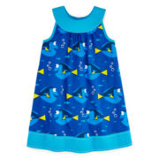 Disney Collection Sleeveless Finding Dory Trapeze Dress - Girls 7-16