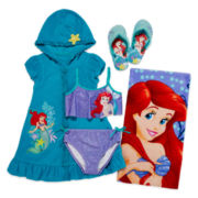 Disney Collection Ariel 2-pc. Swimsuit, Towel, Cover Up or Flip Flops