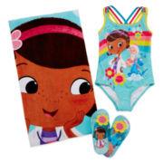 Disney Doc McStuffins Swimsuit, Beach Towel or Flip-flops