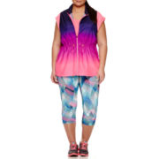 Xersion™ Graphic Capris, Go Swiftly Vest and Ava Tee - Plus