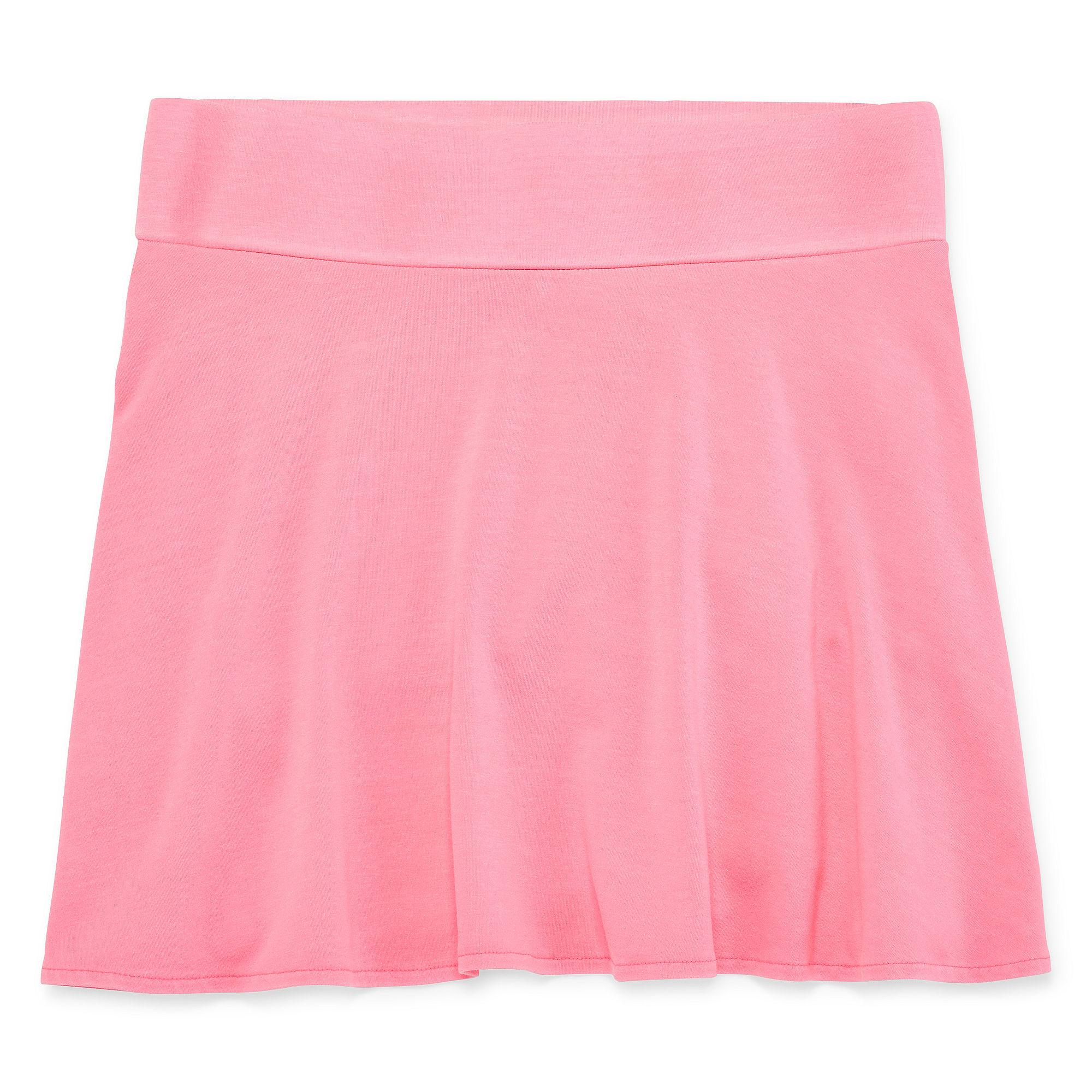 Total Girl High-Waist Skater Skirt - Girls 7-16 and Plus plus size,  plus size fashion plus size appare
