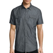 JF J. Ferrar® Short-Sleeve Chambray Shirt