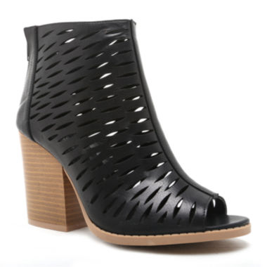 jcpenney.com | Qupid Barnes Cut Out Peep Toe Booties