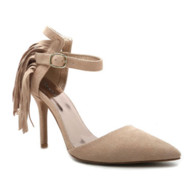 jcpenney.com | Qupid Mixi Fringe Point Toe Pumps