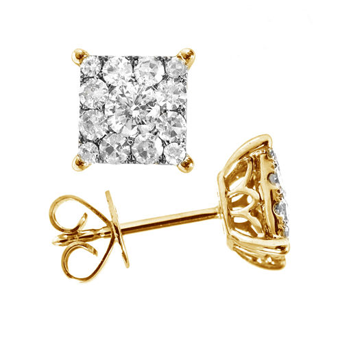 1/3 CT. T.W. Round White Diamond 14K Gold Stud Earrings