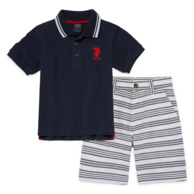 jcpenney.com | U.S. Polo Assn. 2-pc. Short Set Boys
