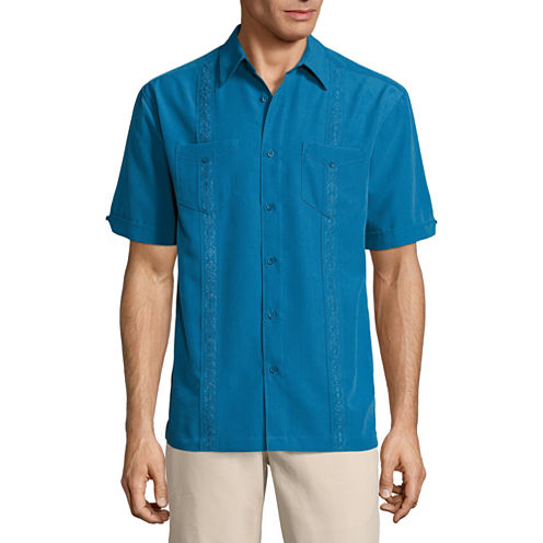Havanera Short Sleeve 2 Pocket Button-Front Shirt