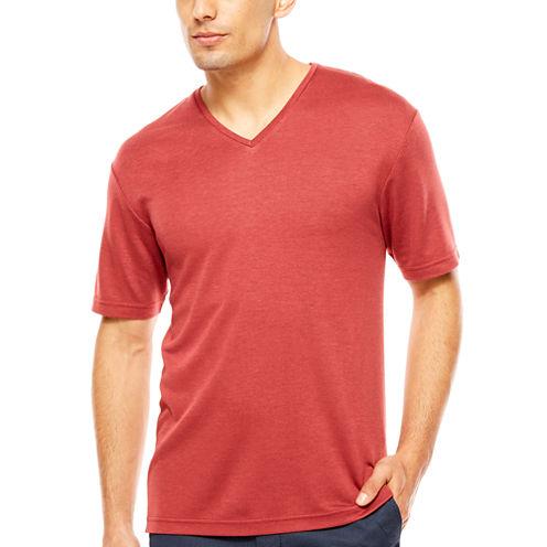 ARGYLECULTURE Birdseye V Neck Shirt