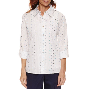 jcpenney.com | Alfred Dunner Long Sleeve Button-Front Shirt
