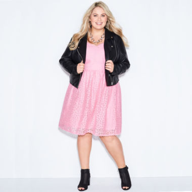 jcpenney.com | Ashley Nell Tipton for Boutique + Sleeveless Fit & Flare Dress-Plus