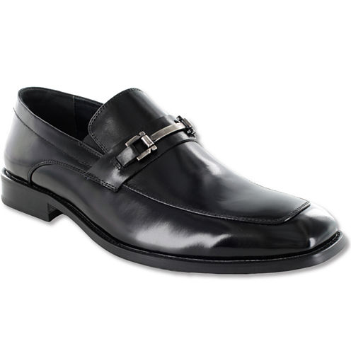 Stacy Adams® Blake Mens Leather Moc-Toe Slip-On Dress Shoes