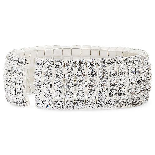 Vieste® Rosa 4-Row Crystal Cuff Bracelet