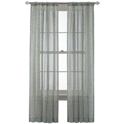 Royal Velvet® Cordial Print Rod-Pocket/Back-Tab Curtain Panel