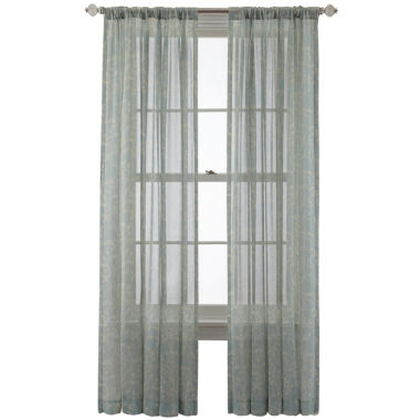 jcpenney.com | Royal Velvet® Cordial Print Rod-Pocket/Back-Tab Curtain Panel