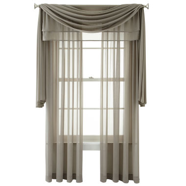 jcpenney.com | Royal Velvet® Lantana Rod-Pocket Sheer Window Treatments