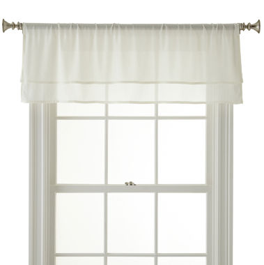 jcpenney.com | Royal Velvet® Lantana 2-Layer Rod-Pocket Tailored Valance