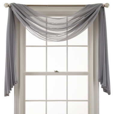 jcpenney.com | MarthaWindow™ Airy Sheer Window Scarf Valance