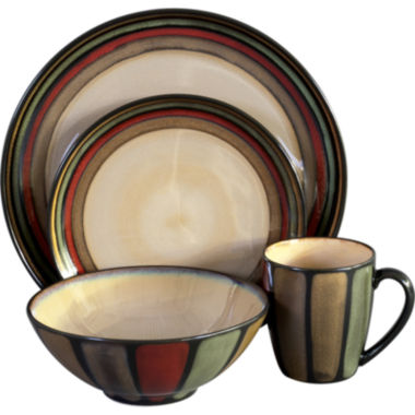 jcpenney.com | Sango Flair 16-pc. Reactive Glaze Dinnerware Set
