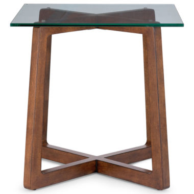 "jcpenney.com | Destin Glass Top 24"" Square Side Table"