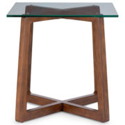 "Destin Glass Top 24"" Square Side Table"