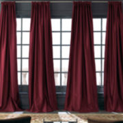 Royal Velvet® Grandeur Silk Rod-Pocket/Back-Tab Curtain Panel