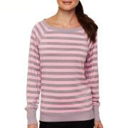 Xersion™ Striped Open Mesh Sweatshirt