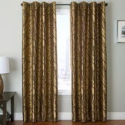 Edison Tree Grommet-Top Curtain Panel