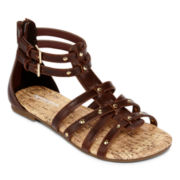 Arizona Ginene Girls Gladiator Sandals - Little Kids