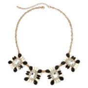 Mixit™ Gold-Tone Crystal Black and White Statement Necklace