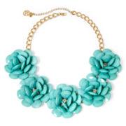 Mixit® Gold-Tone Mint 3D Flower Statement Necklace