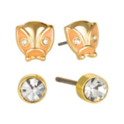 Delicates by PALOMA & ELLIE 2-Pr. Gold-Tone Ladybug and Stud Earrings