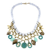 Mixit® Gold-Tone Patina & Aqua Statement Necklace