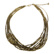 Mixit® Gold-Tone 10-Row Bead Necklace