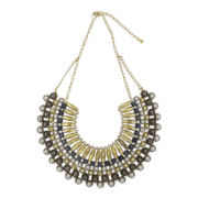 Mixit™ Tri-Tone Bib Statement Necklace