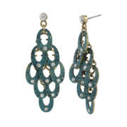 Mixit® Gold-Tone Patina Chandelier Earrings