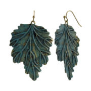 Mixit™ Gold-Tone Patina Leaf Drop Earrings