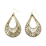 Mixit® Gold-Tone Wire & Bead Teardrop Earrings