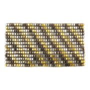 Mixit® Tri-Tone Diagonal Metal Bead Stretch Bracelet