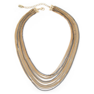jcpenney.com | nicole by Nicole Miller® Mixed Metal Multi-Chain Necklace