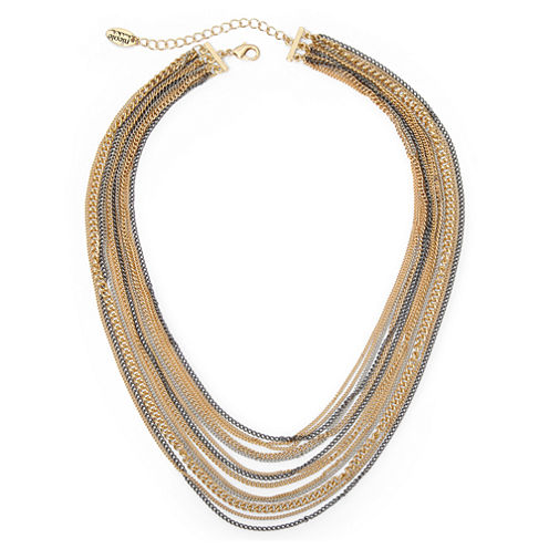 nicole by Nicole Miller® Mixed Metal Multi-Chain Necklace