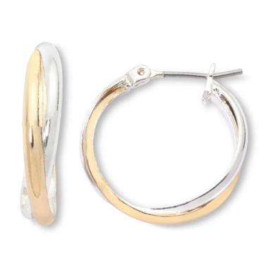 jcpenney.com | Mixit Two-Tone, Twisted Hoop Earrings