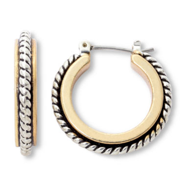 jcpenney.com | Sensitive Ears Two-Tone Hoop Earrings