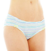 Flirtitude® Ruched Microfiber Hipster Panties