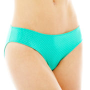 Flirtitude® Ruched Microfiber Bikini Panties