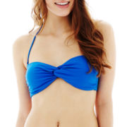 Arizona Solid Twist Bandeau Swim Top