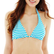 Arizona Striped Slider Halter Swim Top  - Juniors