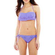 Ninety Six Degrees Flounce Bandeau Swim Top or Bottoms